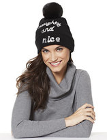 "New York & Co. Sequin ""Naughty & Nice"" Hat"