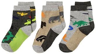 Jefferies Socks Land Animal Crew 3-Pack (Infant/Toddler/Little Kid) (Multi) Boys Shoes