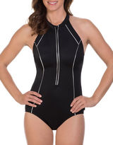 Reebok Metallic Scuba One-Piece Swimsuit