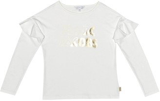 Little Marc Jacobs Logo cotton modal top