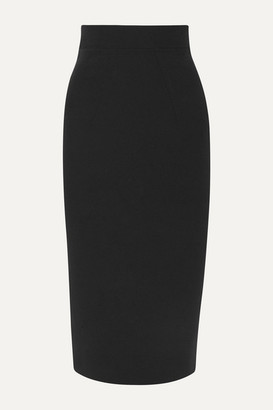 Safiyaa Hokoku Stretch-crepe Midi Skirt - Black