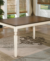 Signature Design by Ashley Brown & Cottage White Whitesburg Dining Room Table