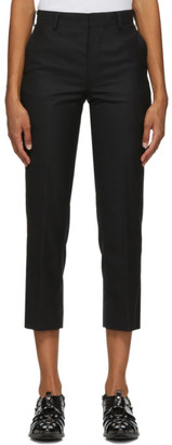 Junya Watanabe Black Wool Crop Trousers