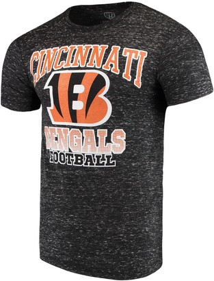 Men's G-III Sports by Carl Banks Black Cincinnati Bengals Outfield Speckle T-Shirt