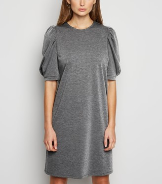 New Look Puff Sleeve Tunic Dress