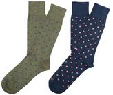 Etiquette Clothiers Mix Polka Socks (2 PK)