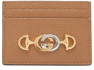Gucci Zumi Leather Cardholder - Womens - Tan