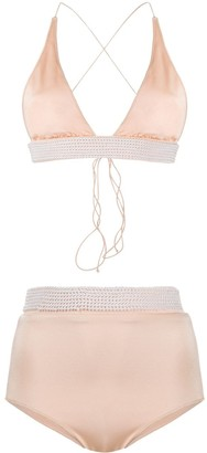 Oseree Pearl Detailed Bikini Set