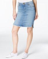 KUT from the Kloth Connie Frayed-Hem Denim Skirt