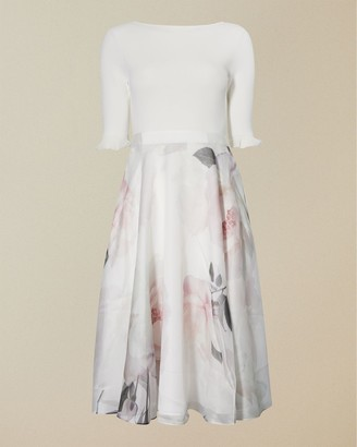 Ted Baker Bouquet Print Full Skirt Dress
