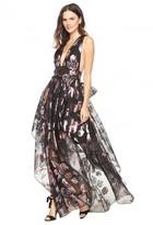 Milly Floral Lurex Organza Angie Dress