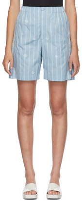 Gucci Blue GG Stripe Bowling Shorts