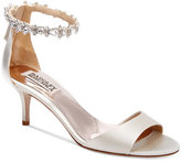 Badgley Mischka Geranium Ankle-Strap Evening Sandals