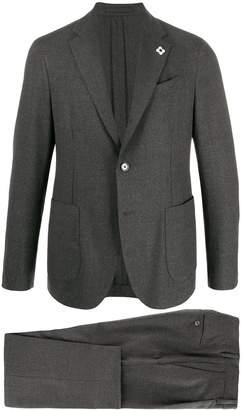 Lardini fitted single-breasted suit