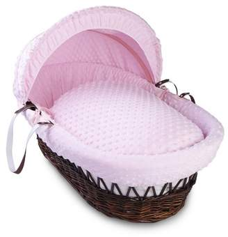 Clair De Lune Dimple Dark Wicker Moses Basket