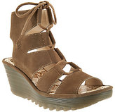 Fly London As Is Leather Ghillie _Lace- up Wedges - Yoll