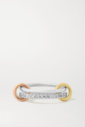 Spinelli Kilcollin Marigold Set Of Two Sterling Silver, 18-karat Yellow And Rose Gold And Diamond Rings - 6