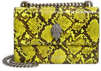 Kurt Geiger Small Shoreditch Snake Embossed Leather Crossbody Bag