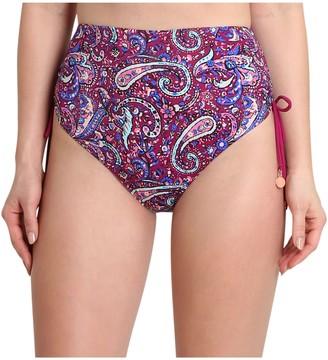 Nanette By Nanette Lepore Nanette Lepore Paisley High-Waisted Bikini Bottom - Eugenia