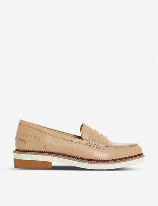 Bertie Genny saddle-strapped leather Penny loafers