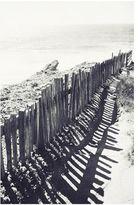 Pottery Barn Beach Fence Framed Print by Lupen Grainne