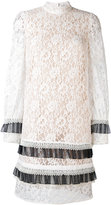 Erdem - lace long sleeve mini dress
