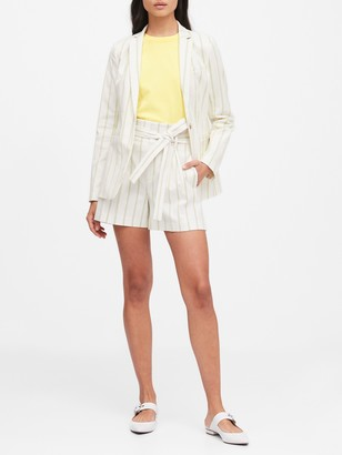 Banana Republic Petite Long & Lean-Fit Stripe Blazer