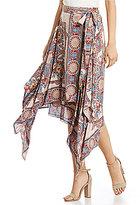 Angie Border Print Wrap Skirt