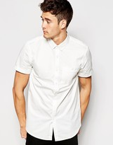 Jack Wills Shirt in Cotton Poplin Short Sleeves In Classic Regular Fit