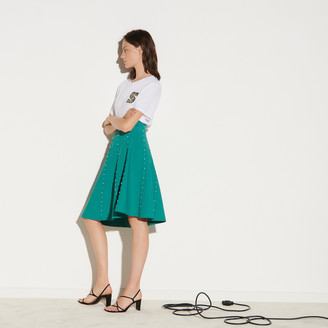 Sandro Knit skirt embellished with beads