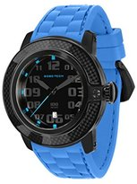 Glam Rock Men's GR33000 SoBe Black Dial Blue Silicon Watch