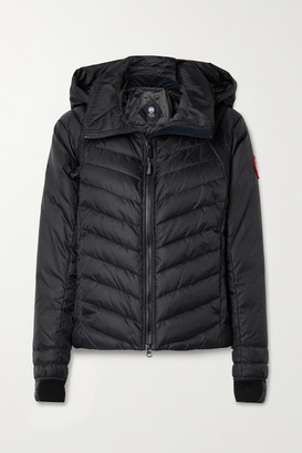 Canada Goose Hybridge Base Jersey-trimmed Hooded Quilted Shell Down Jacket - Black