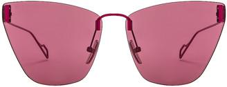 Balenciaga Cat Eye Sunglasses in Purple   FWRD