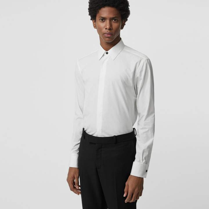 Burberry Classic Fit Link Cotton Jacquard Dress Shirt