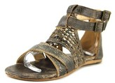 Bed Stu Capriana Women Open Toe Leather Brown Gladiator Sandal.
