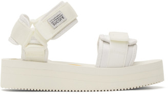 Suicoke White CEL-VPO Sandals