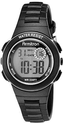 Armitron Sport Women's 45/7046BLK Digital Chronograph Black Resin Strap Watch