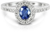 Forzieri Sapphire and Diamond 18K White Gold Ring