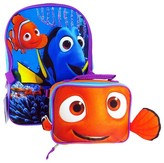 """Disney Finding Dory 16"""" Kids Backpack with Lunch Bag - Purple/Blue"""