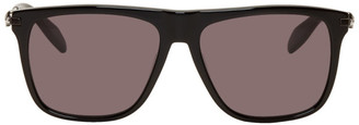 Alexander McQueen Black Flat Top Sunglasses