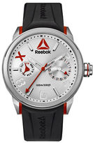 Reebok Flashline Stainless Steel and Silicone Silver Watch