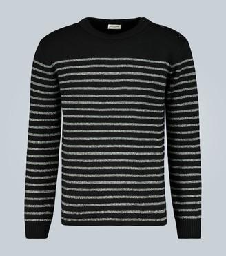 Saint Laurent Sailor-knit striped sweater