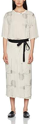 Filippa K Women's Double Wrap Printed Dress 3/4 Sleeve Dress,8 (Manufacturer Size: Small)