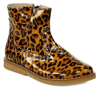Elephantito Girl's Madison Leather Leopard-Print Ankle Boots