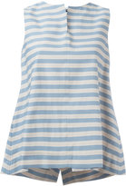 Jil Sander Navy sleeveless A-line blouse - women - Cotton/Polyester - 34