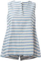 Jil Sander Navy sleeveless A-line blouse