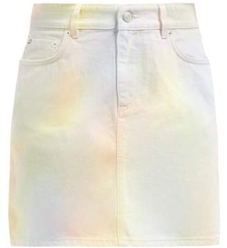 Ganni Shiloh Pastel Tie-dye Cotton Denim Skirt - Womens - Multi