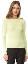 Nina Ricci Ribbed Long Sleeve Sweater