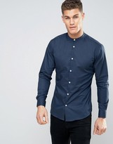 Selected Slim Smart Grandad Shirt