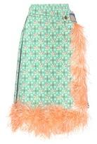 Prada Feather-trimmed skirt